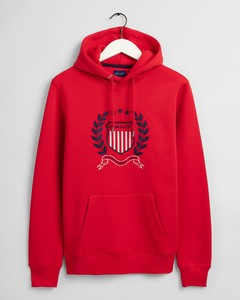 Gant Gant Crest Hoodie Trui Bright Red