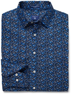 Gant Gant Flower Shirt Dark Evening Blue
