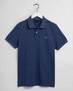 Gant Gant Piqué Polo Poloshirt Blue Melange