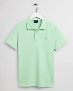 Gant Gant Piqué Polo Poloshirt Pastel Green