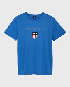 Gant Gant Shield T-Shirt T-Shirt Midden Blauw
