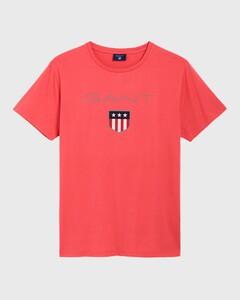 Gant Gant Shield T-Shirt T-Shirt Watermeloen Rood