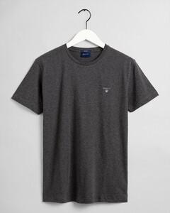 Gant Gant The Original T-Shirt T-Shirt Antraciet Melange