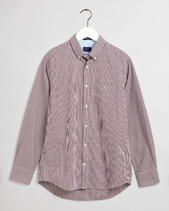 Gant Gingham Check Contrast Overhemd Port Red