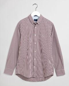 Gant Gingham Check Contrast Shirt Port Red