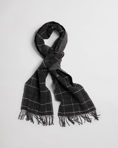 Gant Glencheck Wool Scarf Sjaal Antraciet