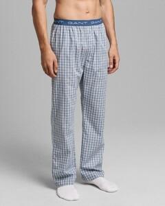Gant Gradient Check Pajama Pants Nachtmode Salty Sea