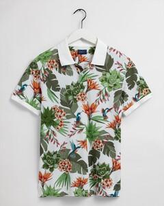 Gant Humming Garden Piqué Short Sleeve Poloshirt Eggshell