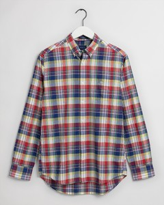 Gant Indian Madras Button Down Overhemd Cardinal Red