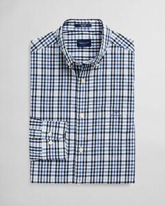 Gant Indigo Dobby Check Overhemd Blue Bell