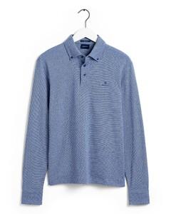 Gant Interlock Long Sleeve Rugger Poloshirt Blue