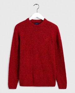 Gant Knit Crew Pullover Mahogany Red