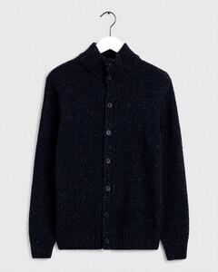 Gant Knit Mock Neck Cardigan Vest Avond Blauw