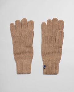 Gant Knitted Gloves Handschoenen Warm Khaki
