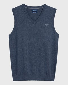 Gant Leight Weight Cotton Slipover Slip-Over Indigoblue Melange
