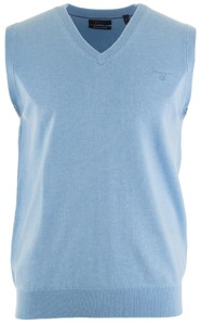Gant Leight Weight Cotton Slipover Slip-Over Light Blue Melange