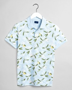 Gant Lemon Flower Fantasy Poloshirt Hamptons Blue