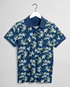 Gant Lemon Flower Fantasy Poloshirt Insignia Blue