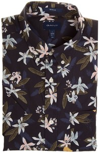 Gant Lemon Flower Print Overhemd Insignia Blue