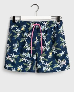 Gant Lemon Flowers Swim Shorts Swim Short Insignia Blue