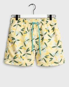 Gant Lemon Flowers Swim Shorts Swim Short Sunlight