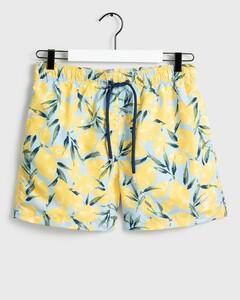 Gant Lemon Print Swim Shorts Swim Short Hamptons Blue