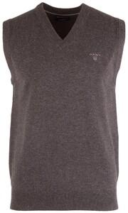 Gant Light Weight Lambswool Slipover Slip-Over Dark Charcoal