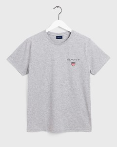 Gant Medium Shield T-Shirt T-Shirt Licht Grijs