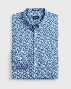 Gant Micro Floral Fantasy Overhemd Vintage Blue