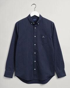 Gant Micro Paisley Oxford Shirt Evening Blue