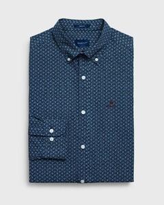 Gant Micro Pattern Overhemd Marine