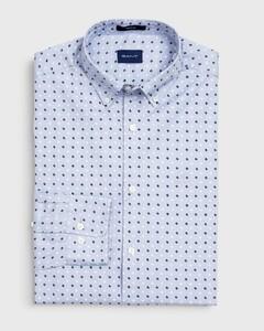Gant Micro Scribble Contrast Overhemd Hamptons Blue