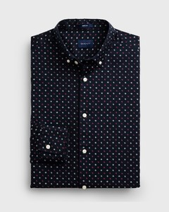 Gant Micro Scribble Contrast Overhemd Marine