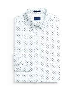 Gant Micro Scribble Contrast Shirt Loden Green