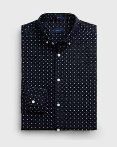 Gant Micro Scribble Contrast Shirt Marine