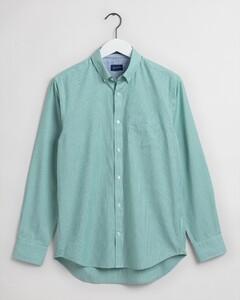 Gant Micro Stripe Contrast Overhemd Lush Green