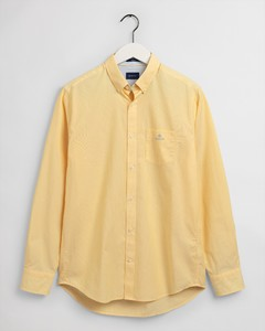 Gant Micro Stripe Contrast Overhemd Solar Power Yellow