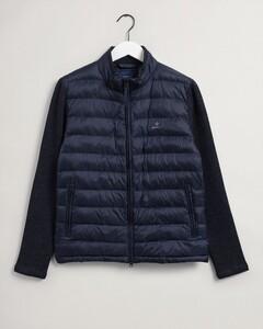 Gant Mixed Media Light Padded Jacket Vest Avond Blauw