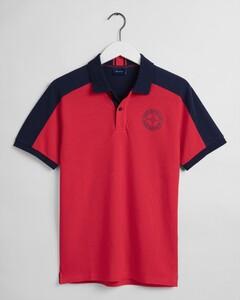Gant Nautical Piqué Short Sleeve Rugger Polo Bright Red