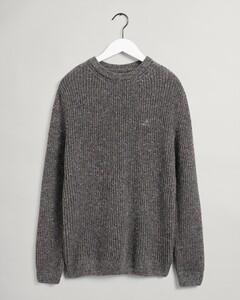 Gant Neps Rib C-Neck Pullover Anthracite Melange