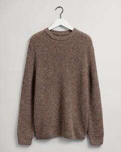 Gant Neps Rib C-Neck Pullover Dark Khaki Melange