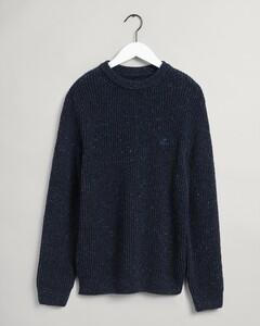 Gant Neps Rib C-Neck Pullover Evening Blue