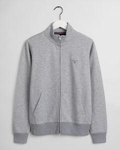 Gant Original Full Zip Cardigan Cardigan Grey Melange