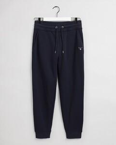 Gant Original Sweat Pants Fine Rib Nachtmode Avond Blauw