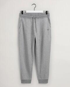 Gant Original Sweat Pants Fine Rib Nachtmode Grijs Melange