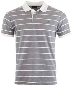 Gant Oxford Stripe Rugger Poloshirt Evening Blue
