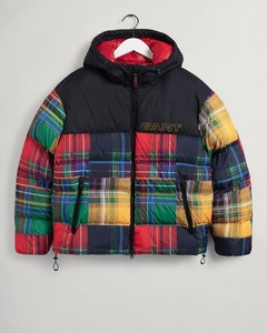 Gant Patchwork Padded Jacket Jack Zwart
