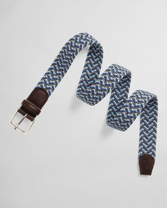 Gant Patterned Elastic Braid Belt Riem Blauw