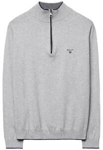 Gant Pima Cotton Sporty Zip Pullover Light Grey