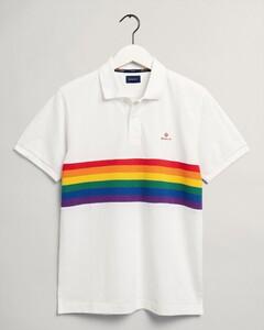 Gant Pride Piqué Short Sleeve Rugger Poloshirt Eggshell